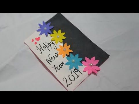 how to make new year card new year pop up card handmade new year greeting card making yo in 2020 new year greeting cards card design handmade greeting card design year greeting card making