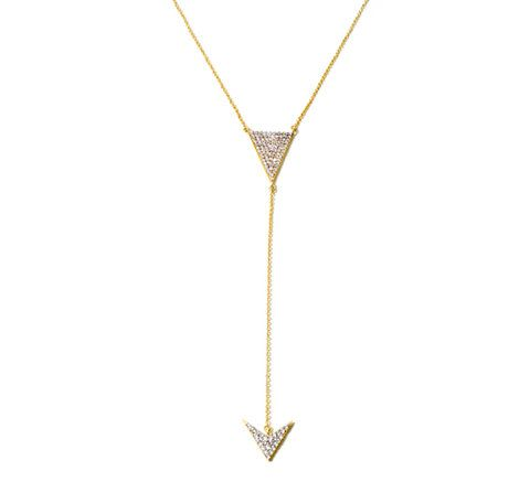 Arrow Y-drop necklace from Kristin Chenoweth's HSN jewelry collection.