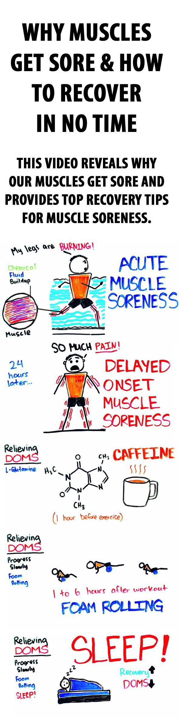 Why muscles get sore & how to recover in no time. #musclesoreness #musclerecovery #muscles #musclepain