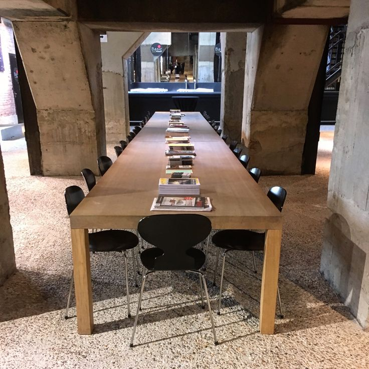 wood dining table with republic of fritz hansen ant chairs arne jacobsen