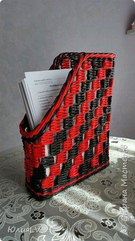 Поделка изделие Плетение 2015 год Бумага газетная Трубочки бумажные фото 14