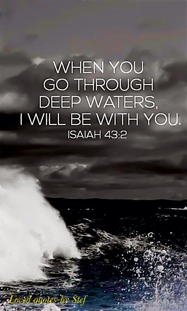 Confirmation for our aching hearts that God is with us through any storm.
