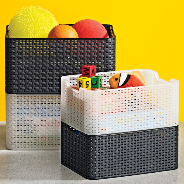The Container Store U003e Medium Basketweave Bin · Large Toy StorageOutdoor ...