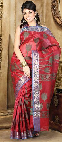 red-cotton-saree-10755
