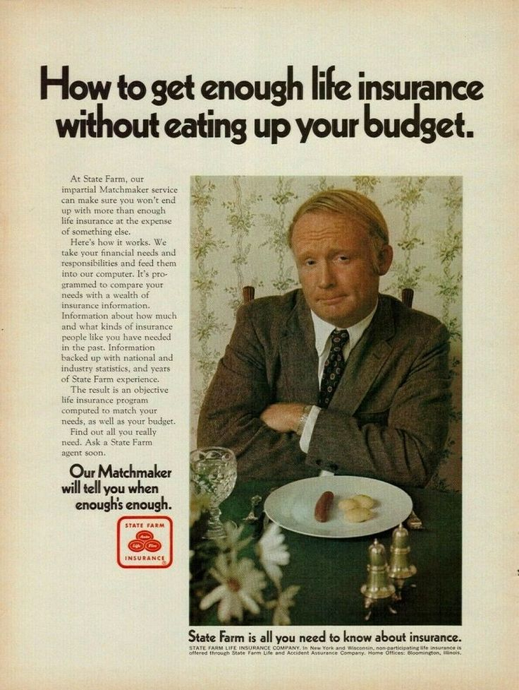 1970 State Farm Life Insurance Without Eating Up Your
