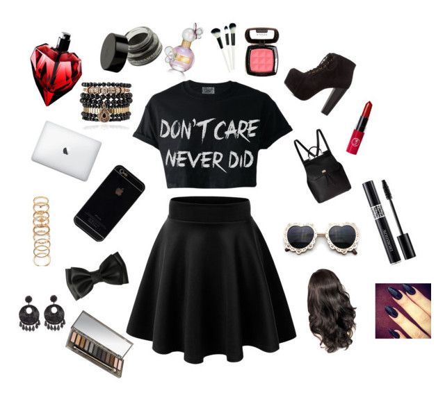 Untitled #9 by huntergirl19 on Polyvore featuring polyvore, fashion, style, Charlotte Russe, Dolce&Gabbana, Samantha Wills, Forever 21, Kenneth Jay Lane, Urban Decay, NYX and Marc Jacobs