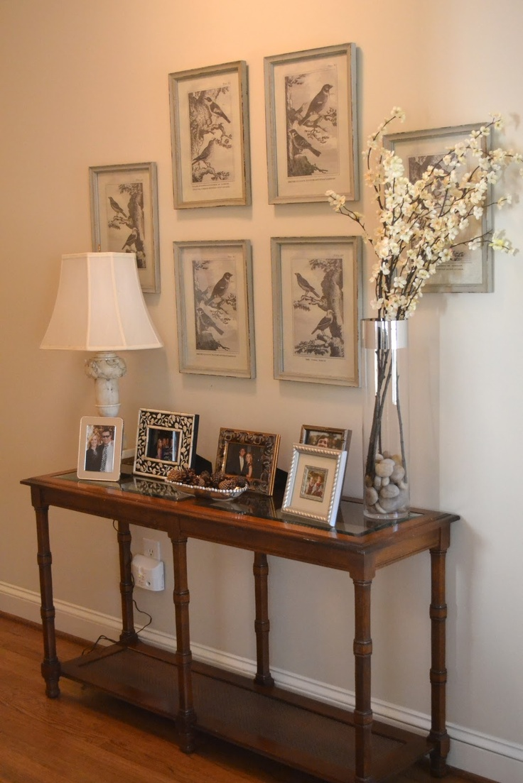 11 best images about entry way on pinterest entryway for Entry wall table