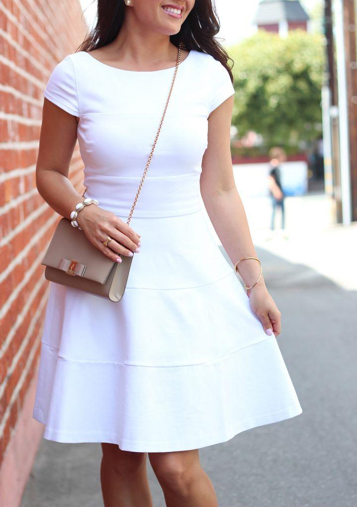 StylishPetite.com | Little White Dress and Polka Dots (plus Anthropologie sale alert)