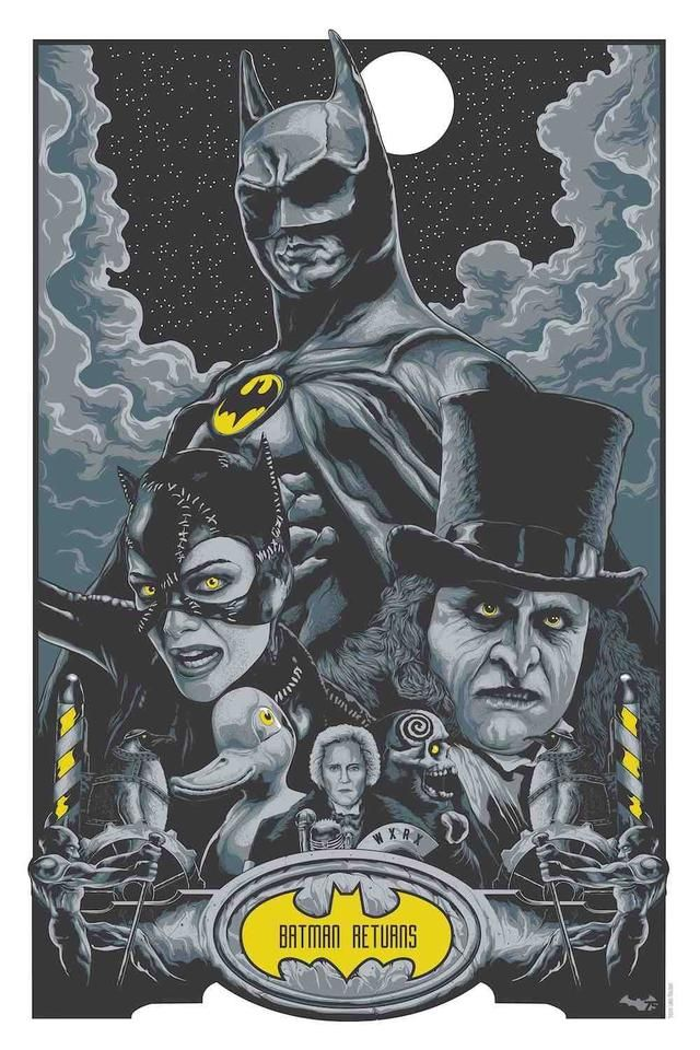 "Batman Returns - Steven Holliday ---- Art featured in Gallery1988 presents ""Crazy 4 Cult Back in LA"" Art Show (2014-12)"