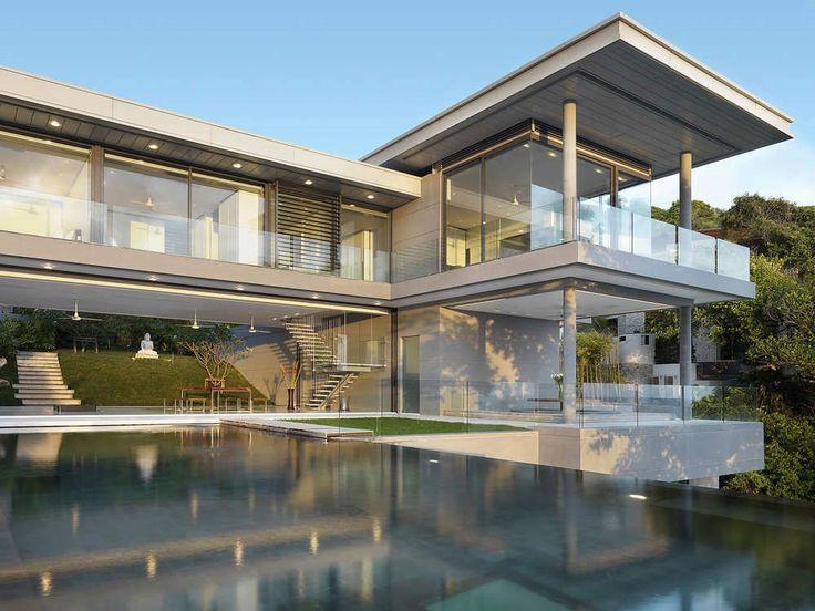 Villa Amanzi: a Sumptuous House on the RocksMinimalist Design, Dreams Home, Luxury Villas, Interiors Design, Phuket Thailand, Sea View, Glasses House, Modern House, Villas