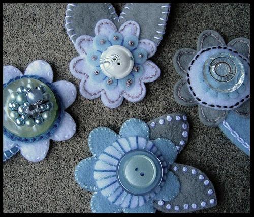 Pretty blue button flowers