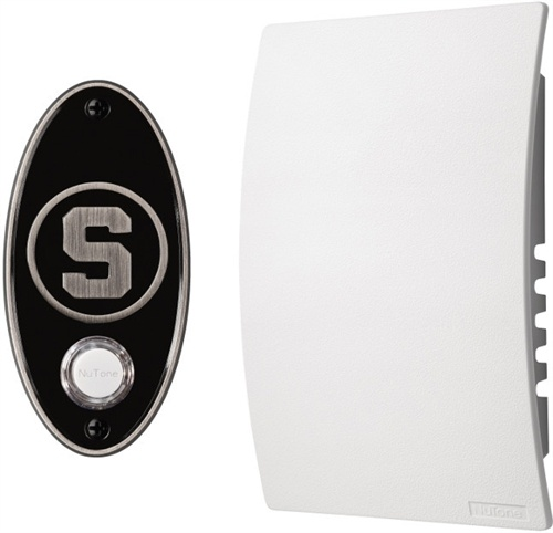 Michigan State University  Doorbell Kit in Satin Nickel. It can play any MP3 file you upload to it like the MSU fight song  $99 #GoSpartans #CollegePride #NuTone #giftidea #holidaygift #sportsfan
