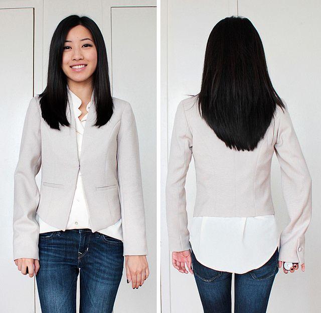 155946612f DIY Alterations Tutorial  Slimming + shortening blazer jacket sleeves with  lining