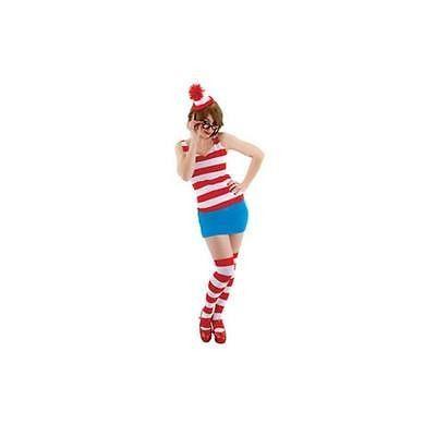 Elope Where's Waldo/Wenda Adult Halloween Costume Kit, Small/Medium
