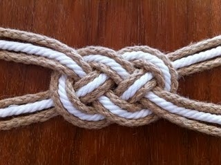 I love these Sailor's knots. And this one is actually a belt. Awesome.