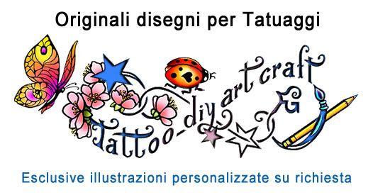 Lettere stilizzate disegnate a mano per tatuaggi artistici