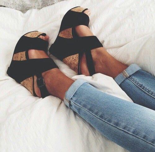 I love these wedge heels