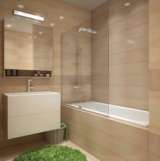 Полный Плитка для маленькой ванной комнаты (150+Фото дизайна): Оптимальное сочетание стиля и декора