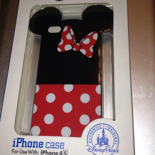 disney iphone 4s clip case screen guard minnie mouse. Black Bedroom Furniture Sets. Home Design Ideas