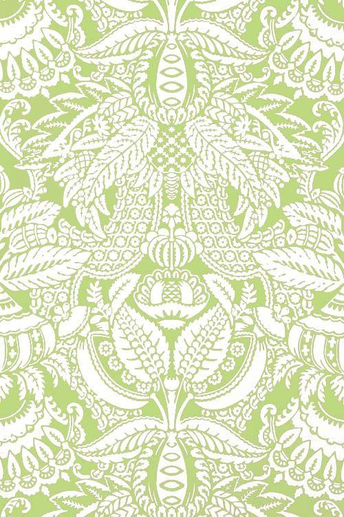 Green Damask Pattern ZsaZsa Bellagio Wallpaper DesignsWallpaper