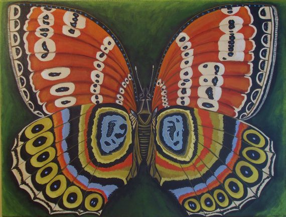 Large canvas Painting Butterfly Effect by Catherine Nolin 18x24