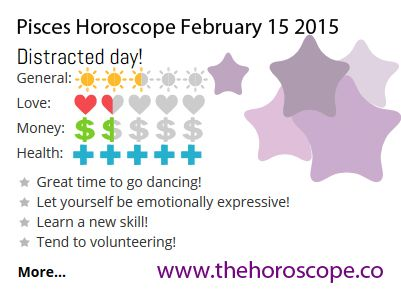 Distracted day for #Pisces on Feb 15th #horoscope ... http://www.thehoroscope.co/horoscope/Pisces-Horoscope-today-February-15-2015-2259.html