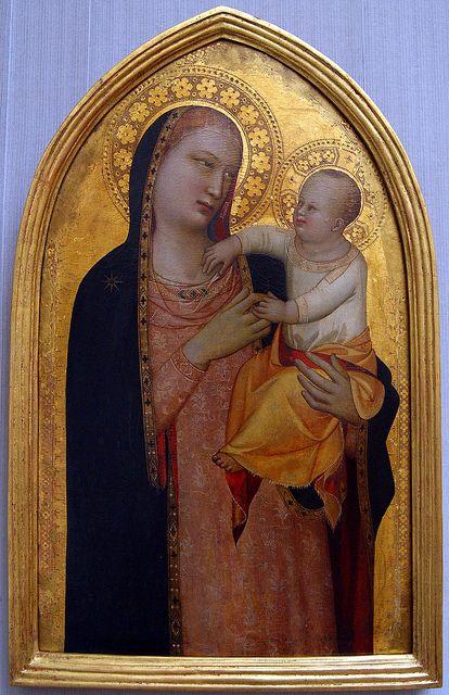 5). 173. Maso di Banco. Madonna col bambino, c. 1340-1350. Berlino Dahlem, Gemaldegalerie