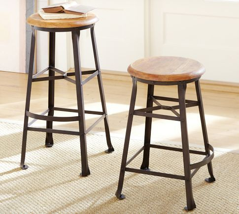 Decker Barstool   Traditional   Bar Stools And Counter Stools   Other Metro    Pottery Barn