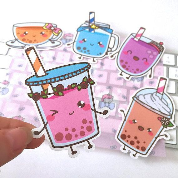 Mc052 boba tea planner die cut set bubble tea die cuts bullet journal