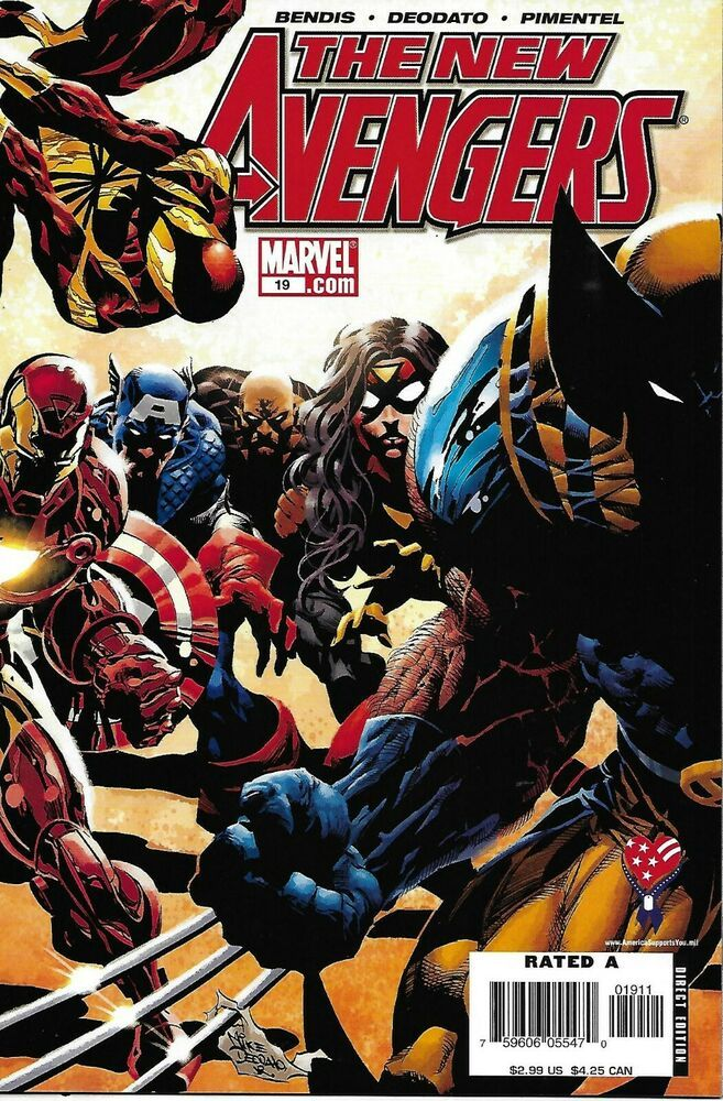 Details about new avengers comic issue 19 modern age first print 2006 bendis deodato pimentel - Mechant avenger ...