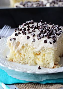 Cannoli Poke Cake - Life Love and Sugar