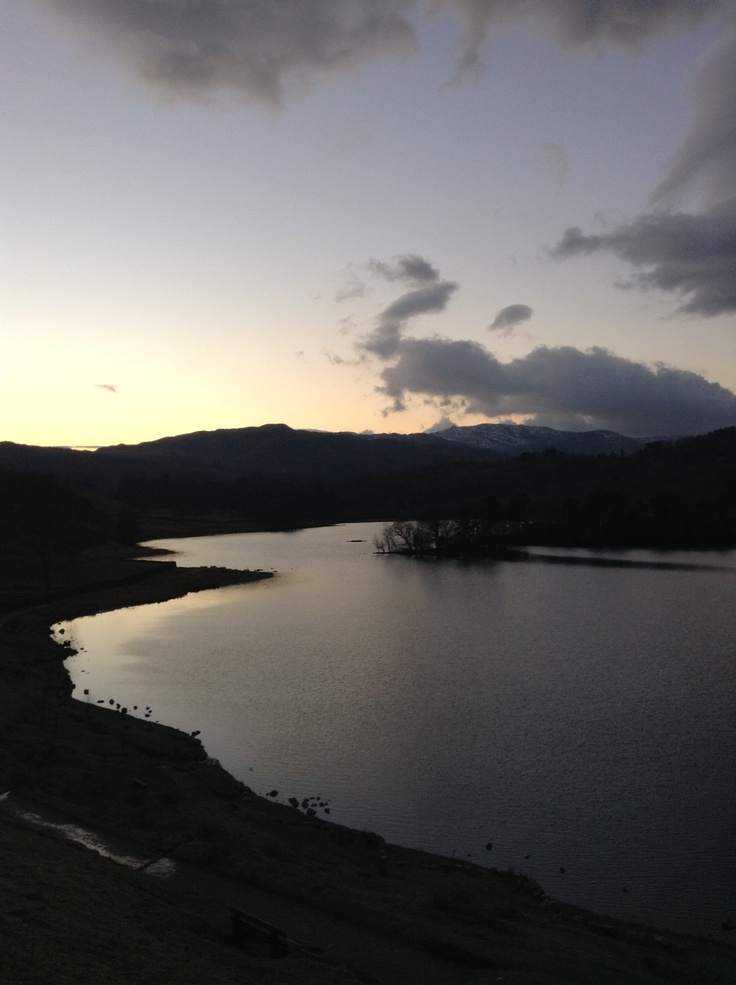 Rydal lake in the sunset