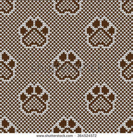 Knitted seamless pattern animal pads
