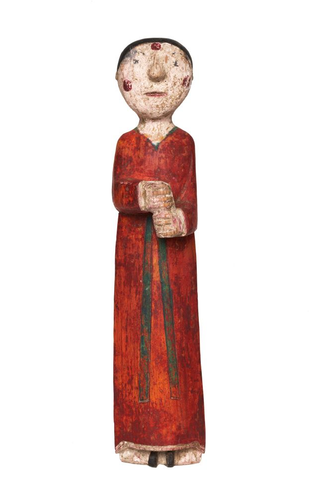 """""""Kokdu,""""Korean traditional wooden figurines which were used to adorn a bier to drive out evil spirits for the deceased."""