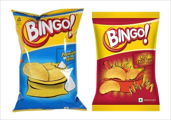 Bingo Premium Salted | Bingo Red Chilli Bijli | Potato Chips | Packingdesigns