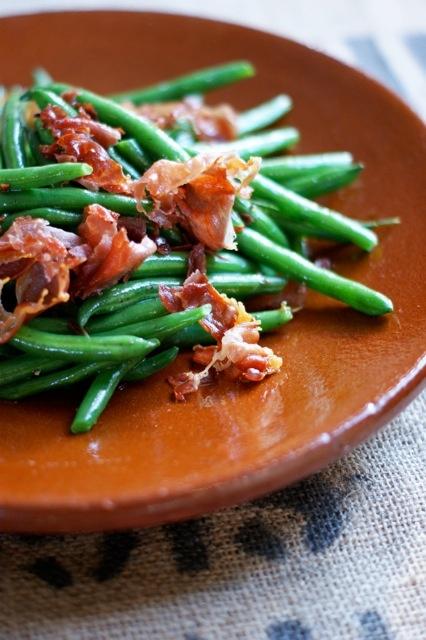 beans with Trunkey Creek bacon www.learntocook.com.au