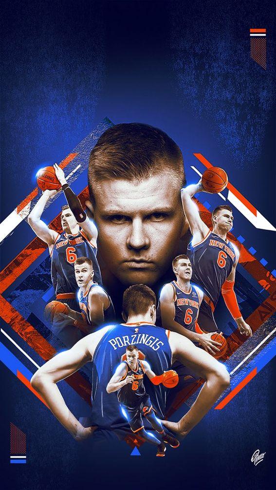 Kristaps Porzingis Basketball Players Nba Nba Art Kristaps Porzingis