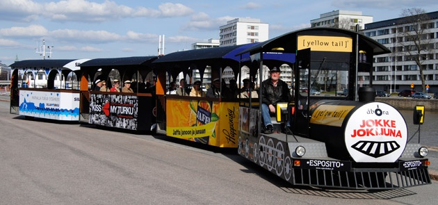 Take a ride by the River Train Jokke while visiting Turku :)
