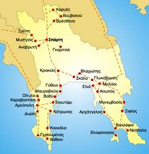 map of Lakonia