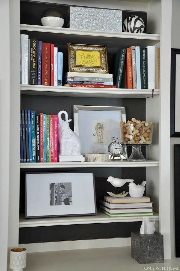 Honey Were Home Spring Living Room Bookshelf StylingBookshelvesFarmhouse DecorRoom