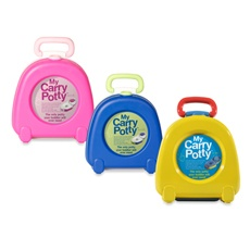 It's a potty that you can bring with you. After my experience with potty training as a nanny - a portable potty seat is very handy for the malls and such.