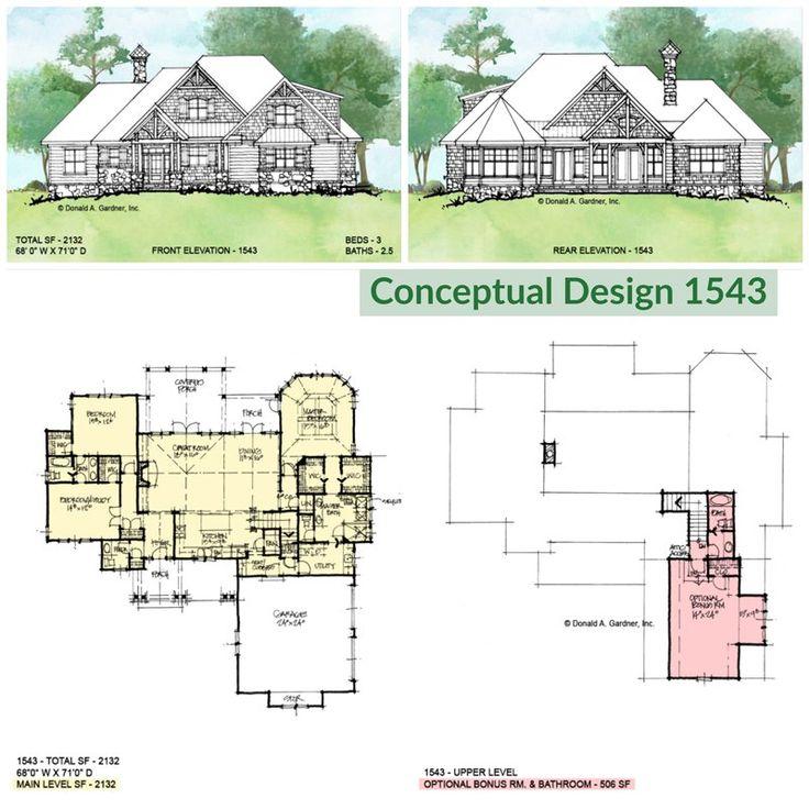 one story craftsman home design donald gardner porch