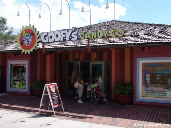 GOOFY'S CANDY COMPANY (Downtown Disney)  - On the Disney Dining Plan and have left over snacks?  Candy to take home and let the kiddies shop - one of our favorite things to do!