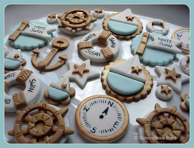 Nautical Cupcake Toppers - #nautical