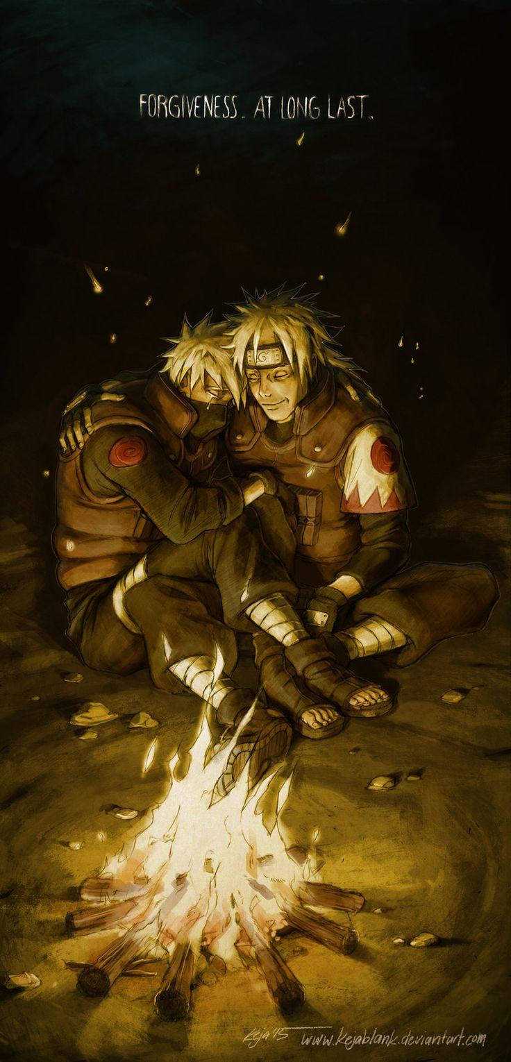 Forgiveness. At long Last. One of my favourite scenes. Kakashi and his father Sakumo. <3<3<3