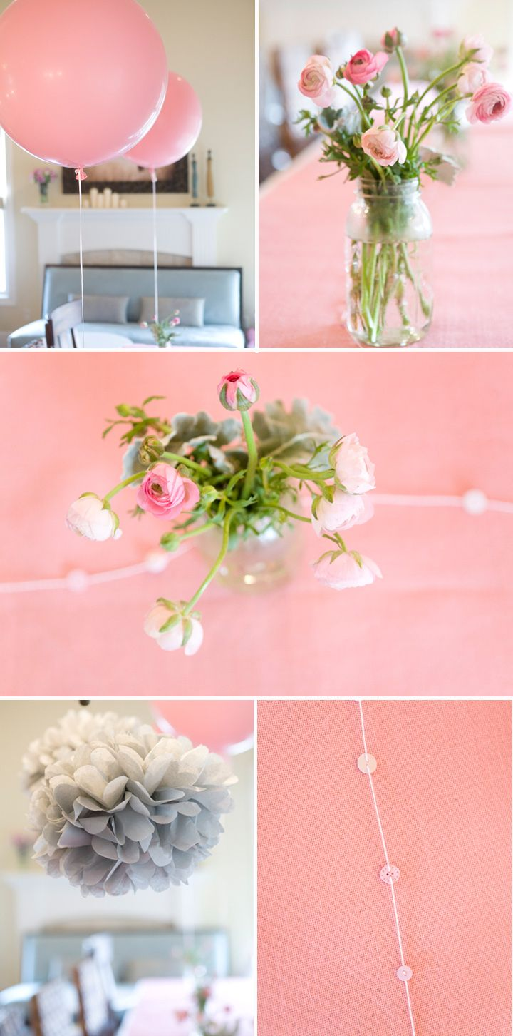 Pink & Grey colour combo ♥: Shower Ideas, Pink Balloon, Giant Balloon, Birthday Parties, Parties Ideas, Round Balloon, Pink And Gray, Gray Birthday, Baby Shower