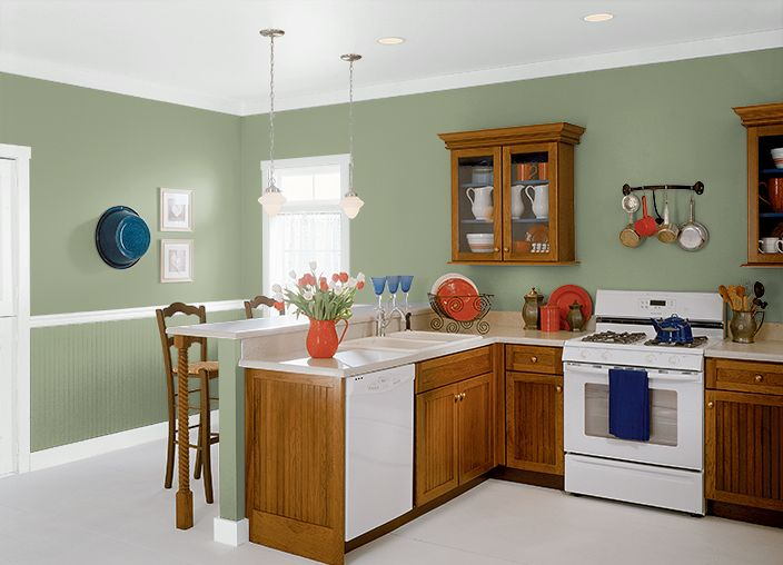 This is the project i created on clary sage for Sage green paint colors kitchen