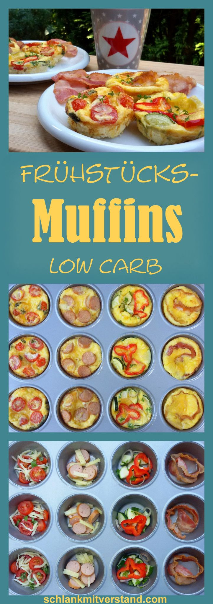 Frühstücksmuffins mit Ei Low Carb – schlank mit Verstand   – Zuckerfreie Rezepte