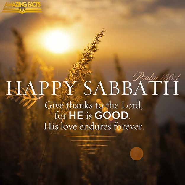 Happy Sabbath!!!