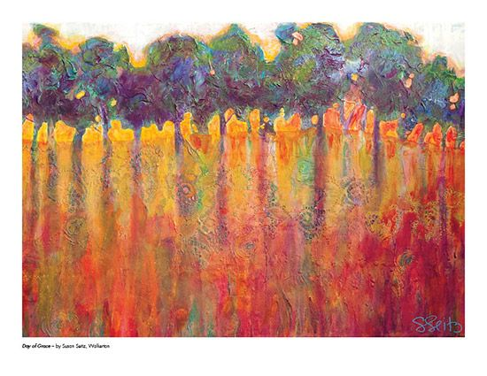 2015 Landscape Calendar | The Art Map Day of Grace by Susan Seitz - July
